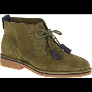 Hush Puppies Cyra Catelyn dark olive suede boots